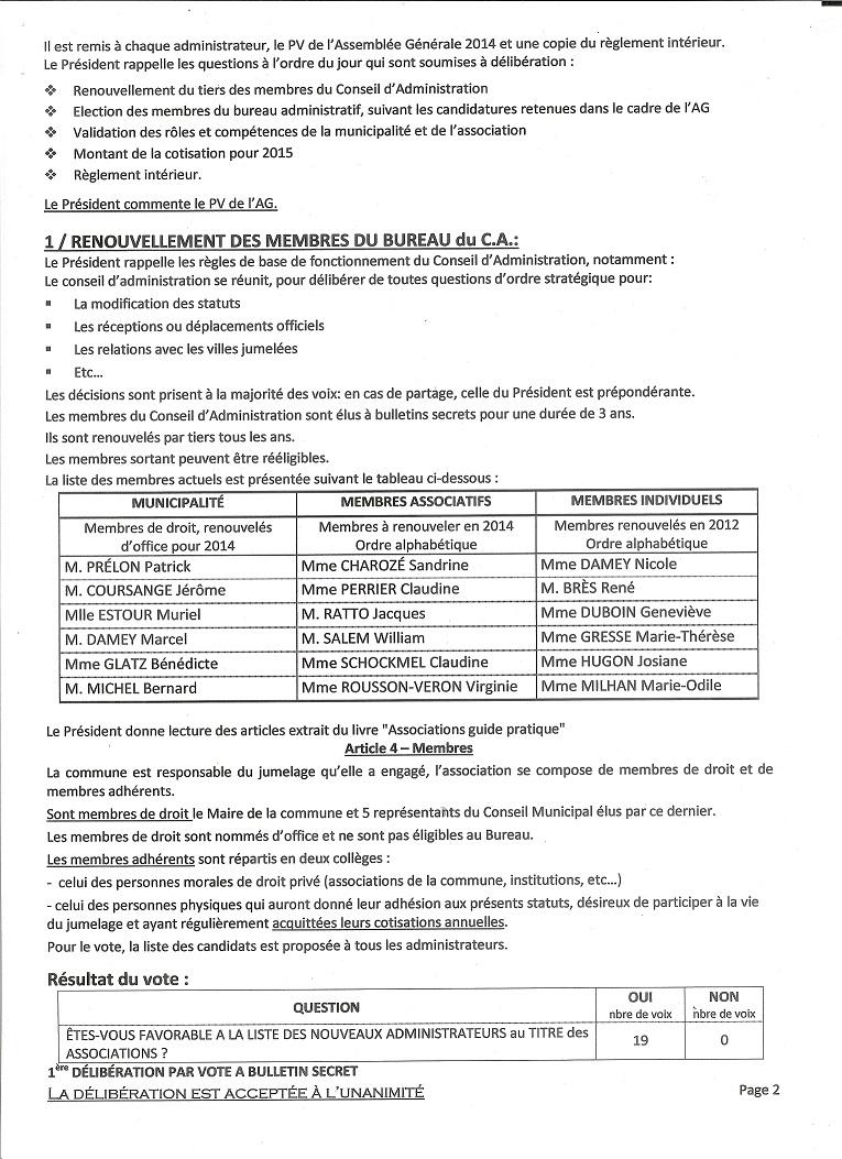 Proces Verbal Du Conseil D Administration Du 22 Juin 2014 Comite
