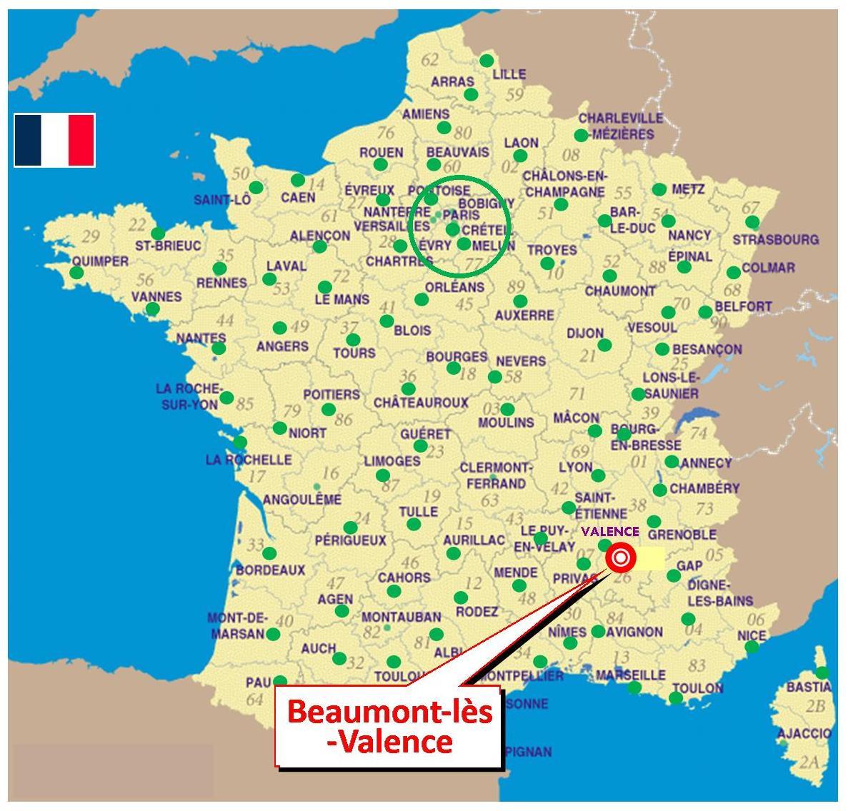 Carte De France Avec Valence | popkensburg