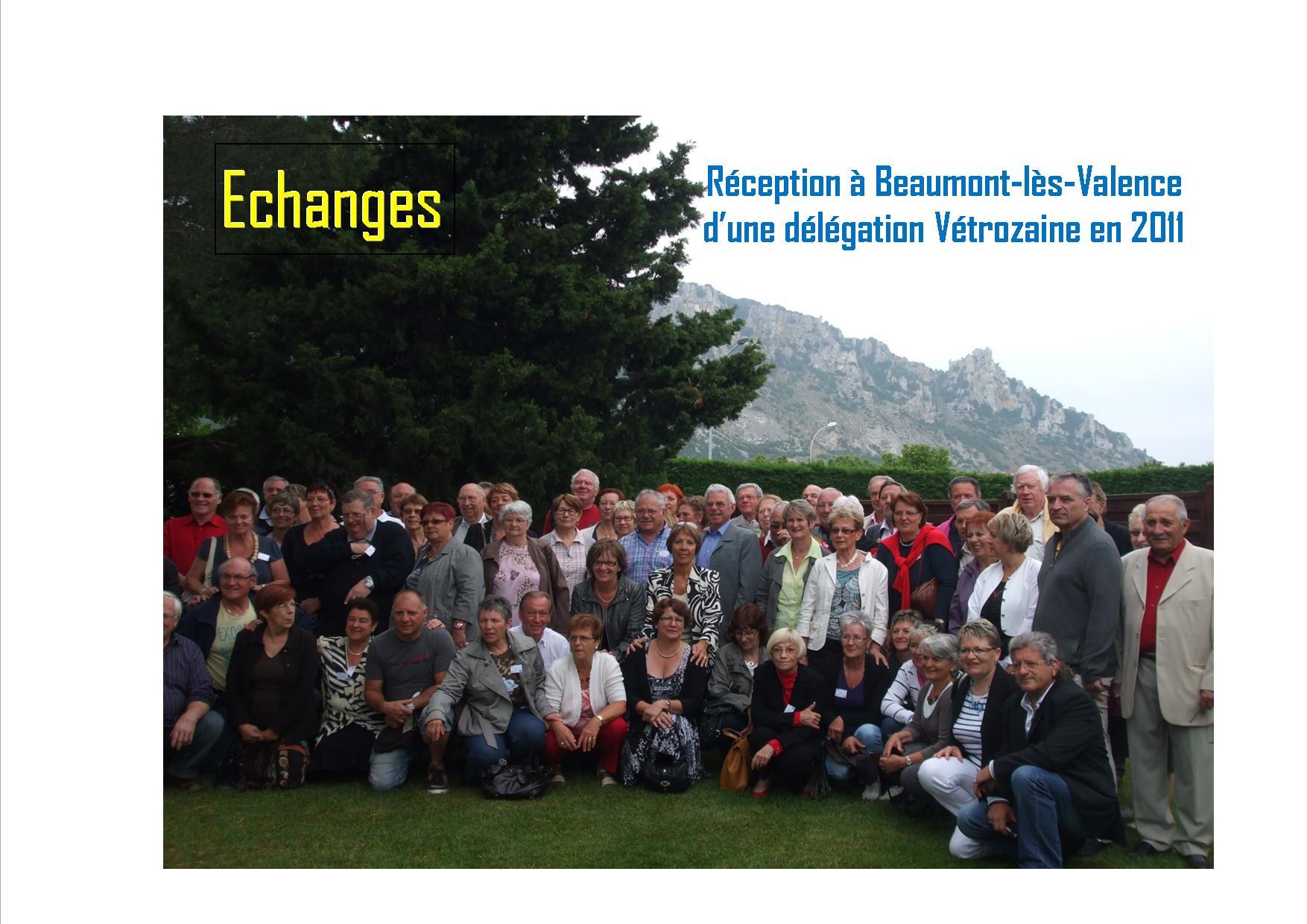 2011 comit de jumelage de beaumont l s valence for Piscine beaumont les valence